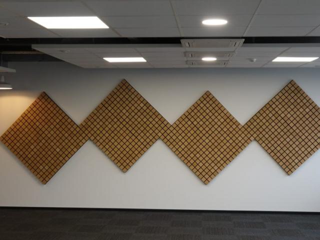 Akustinių plokščių montavimas ofise