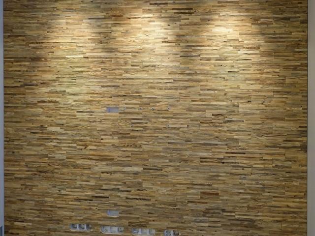 Tv siena iš medinės 3d sienų dangos